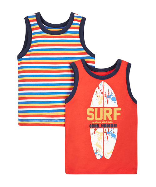 Stripe and Surf Vests - 2 Pack