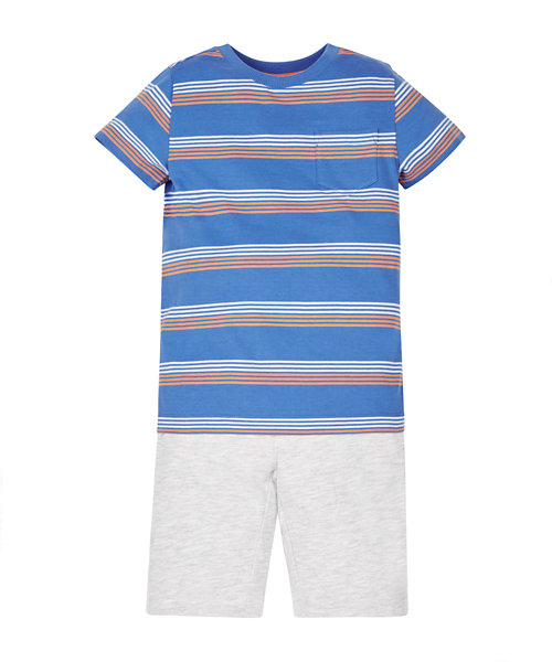 Striped T-Shirt and Shorts Set
