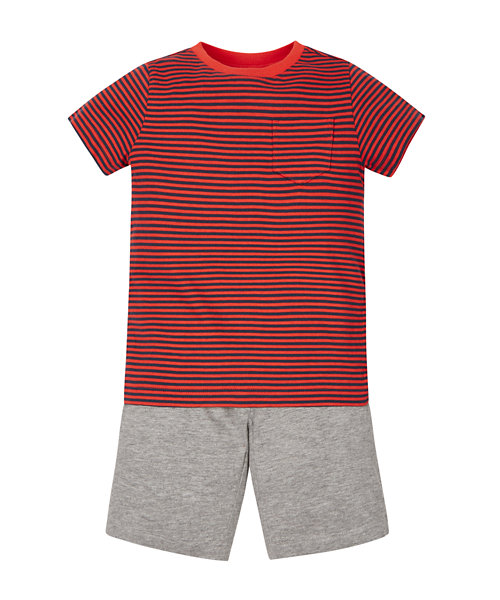 Stripy T-Shirt and Shorts Set