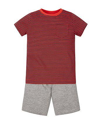 Stripy T-Shirt and Shorts Set