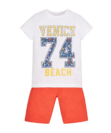 Venice Beach T-Shirt and Shorts Set