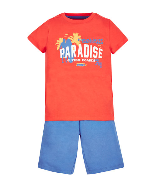Paradise T-Shirt and Shorts Set