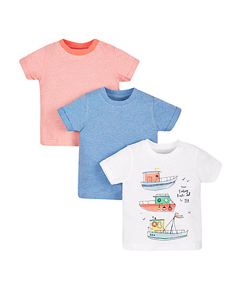 Boat T-Shirts - 3 Pack