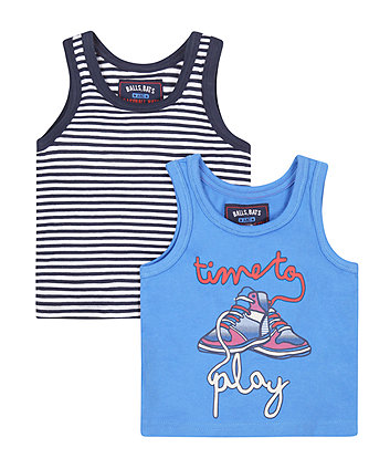 Time To Play Vest T-Shirts - 2 Pack