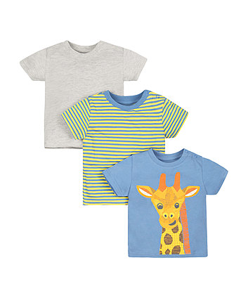 Giraffe T-Shirts - 3 Pack