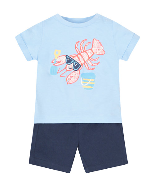 Lobster T-Shirt and Shorts Set