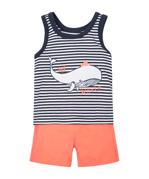 Whale Vest and Shorts Set