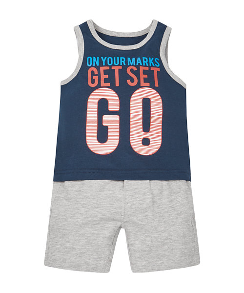 Ready Set Go Vest and Shorts