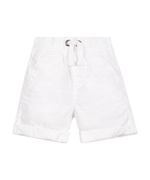 White Poplin Shorts