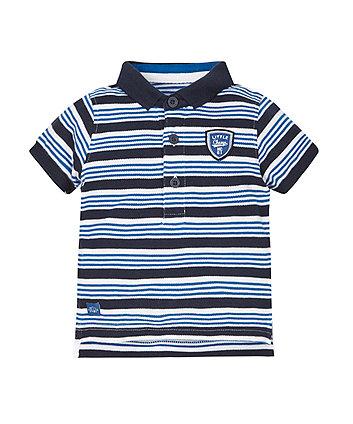 Blue Stripe Polo Shirt -(2-3 years)
