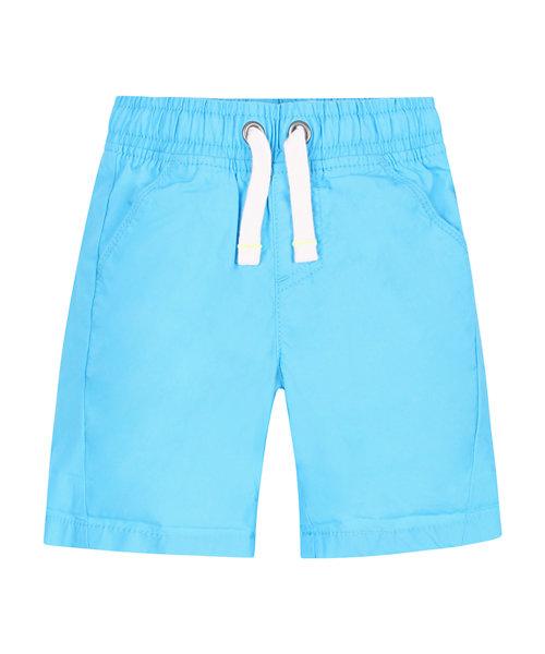 Turquoise Poplin Shorts