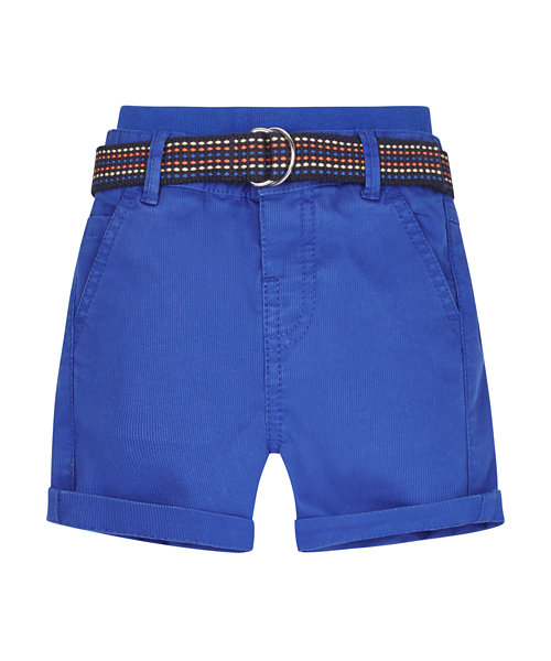 Ribwaist Blue Cord Chino Shorts
