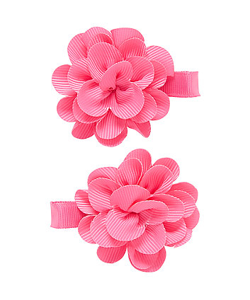Pink Corsage Croc Clips