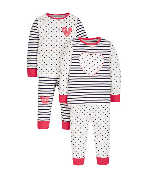 Heart Pyjamas - 2 Pack