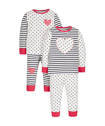 Heart Pyjamas - 2 Pack