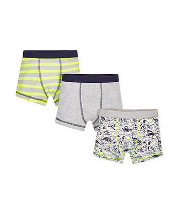 Neon Dino Trunks - 3 Pack