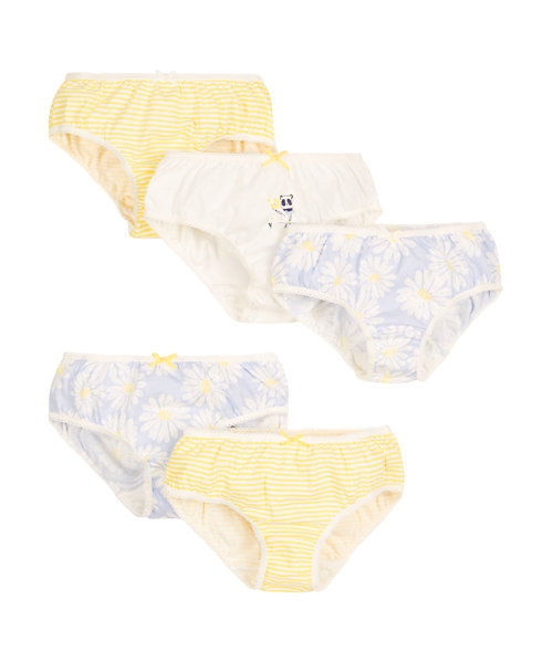 Stripe and Floral Briefs - 5 Pack