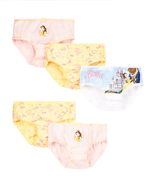 Disney Belle Briefs - 5 Pack