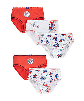 Disney Minnie Mouse Briefs - 5 Pack