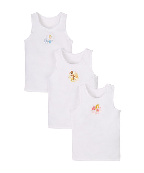 Disney Princess Vests - 3 Pack