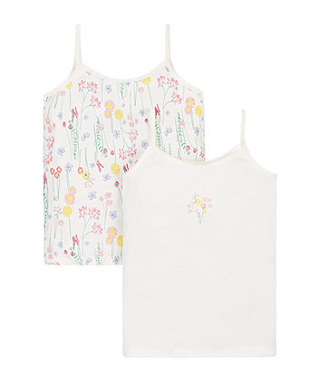 Floral Cami Vests - 2 Pack