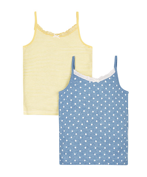 Daisy Cami Vests - 2 Pack