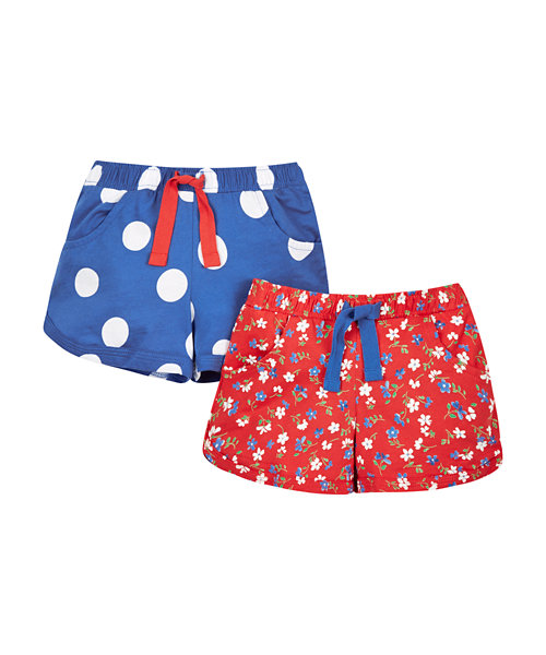 Floral and Spot Shorts - 2 Pack