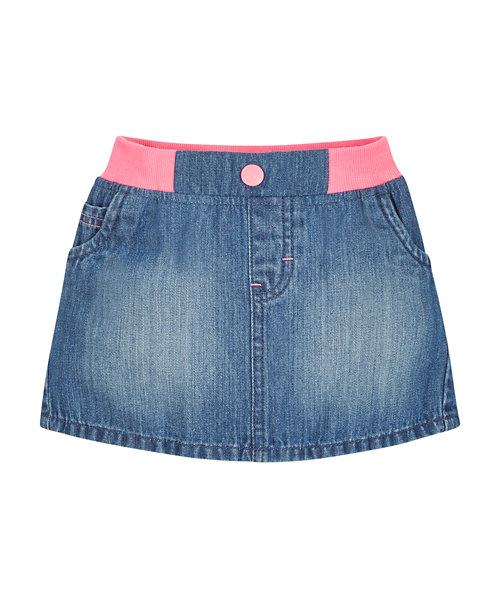 Ribwaist Denim Skirt