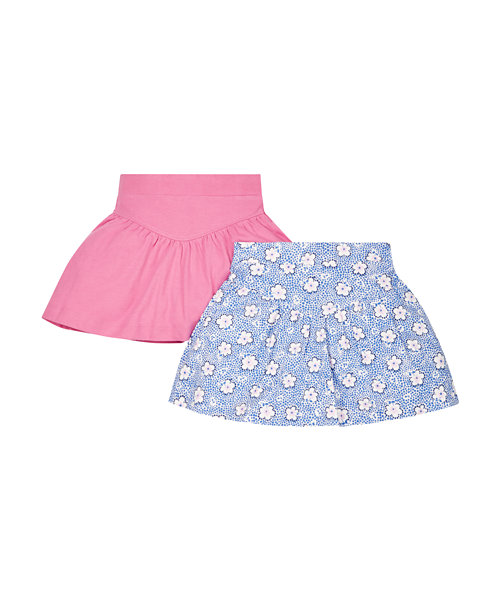 Pink and Floral Skirts - 2 Pack