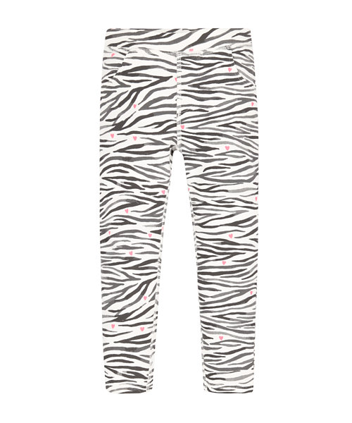 Zebra Printed Jeggings