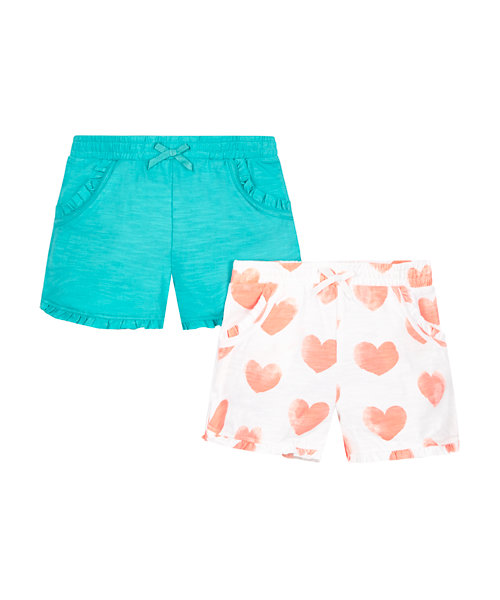 Heart Jersey Shorts - 2 Pack