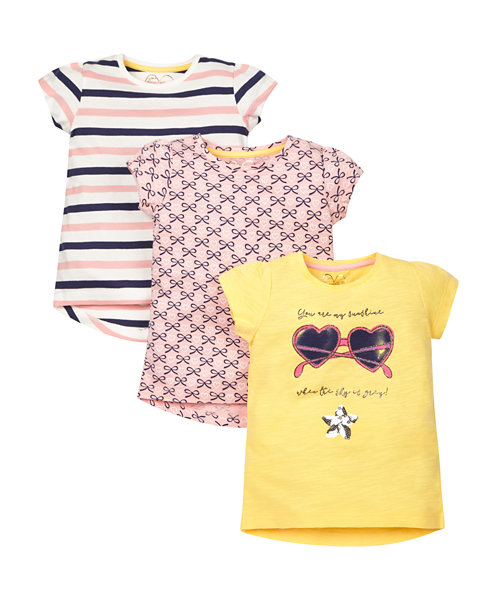 Sunshine T-Shirts - 3 Pack