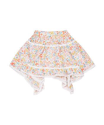 Floral Hanky Hem Skirt