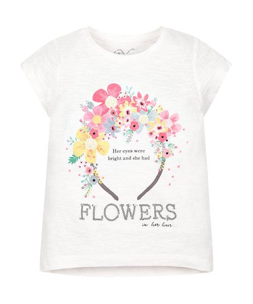 Floral Headband T-Shirt