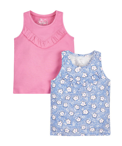 Floral and Pink Vests - 2 Pack