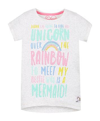 Unicorn, Rainbow, Mermaid Tee