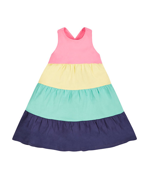 Multi Colourd Tiered Dress