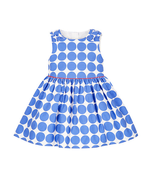Blue Spotty Prom Dress