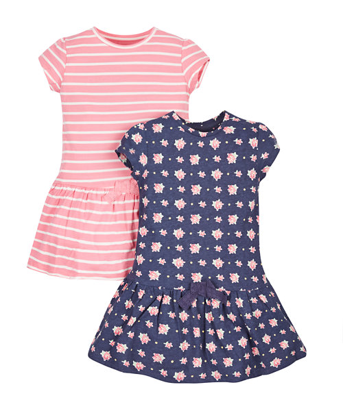 Floral and Stripy Dresses - 2 Pack