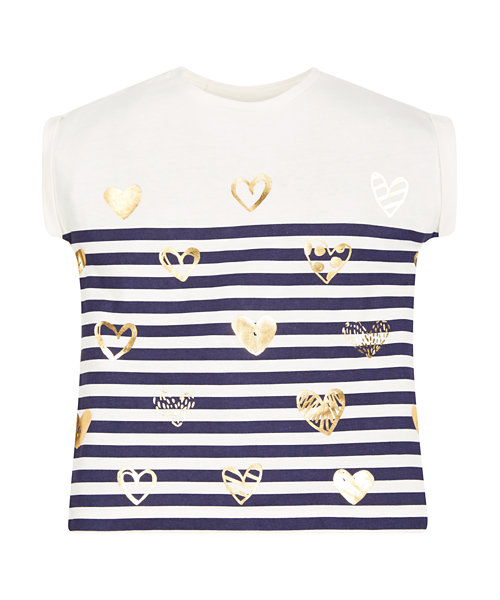 Stripe Heart T-Shirt