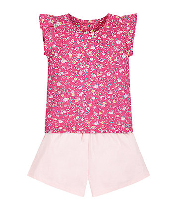 Floral T-Shirt and Shorts Set