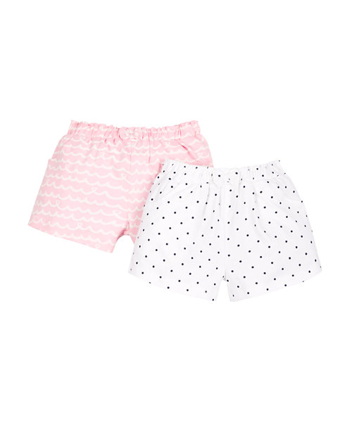 Pink and White Shorts - 2 Pack