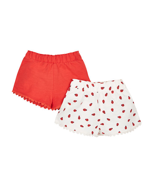 Ladybird Shorts - 2 Pack