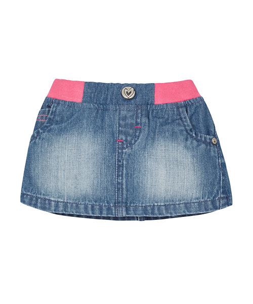 Ribwaist Denim Skirt