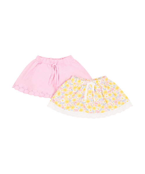 Floral and Pink Skirts - 2 Pack