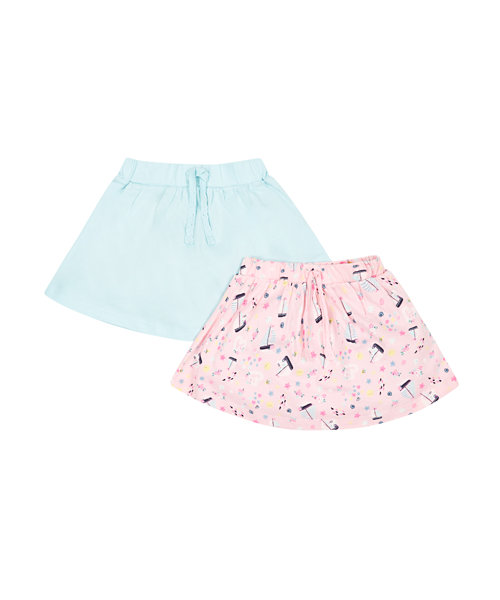 Boat Print and Mint Skirts - 2 Pack