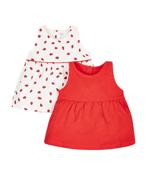 Ladybird Vests - 2 Pack