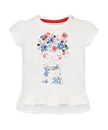 Girl Frill Hem T-Shirt