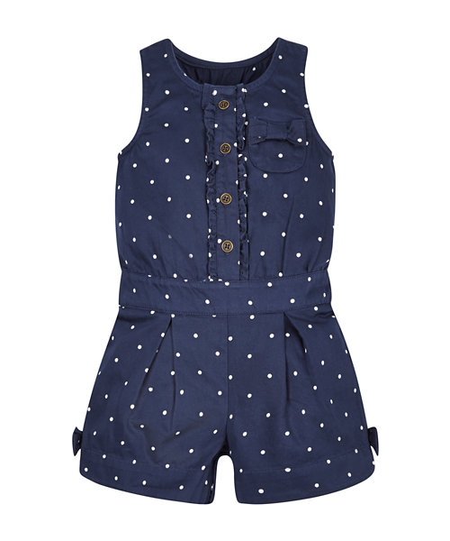 Navy Spotty Playsuit