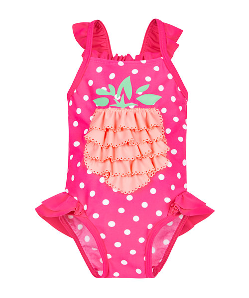 Spotty Ruffle Pineapple Swimsuit